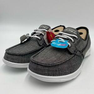 Skechers Go Walk Lite Boat Shoe Size 7 Black/White
